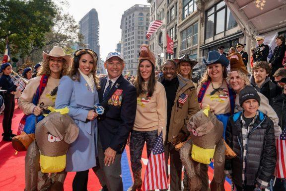 Group photo at the NYC Veterans Day Parade